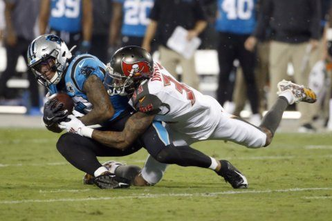 Buccaneers-Panthers resume after weather delay