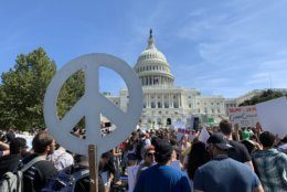 Marchers converge on the Capitol as part of the Climate Strike Sept. 20, 2019.