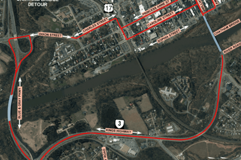 Key bridge between Stafford and Fredericksburg to close for more than a year