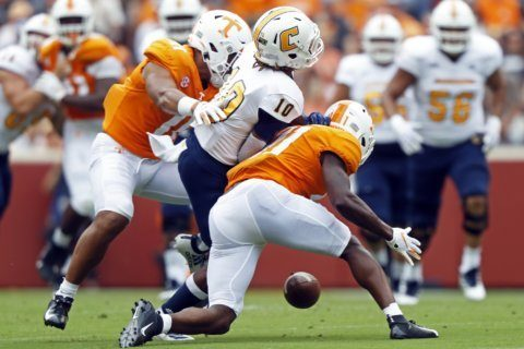 Vols finally get 1st win with 45-0 blowout of Chattanooga