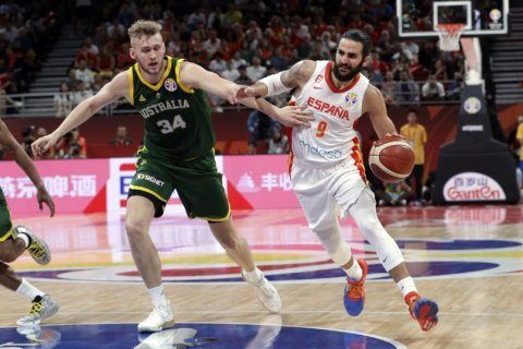Spain beats Australia 95-88 in 2OT to reach World Cup final