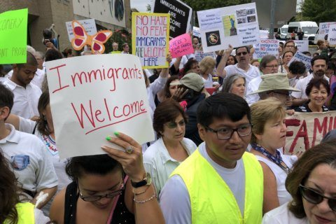 Protests over local immigration policies in Rockville prompted earlier road closures