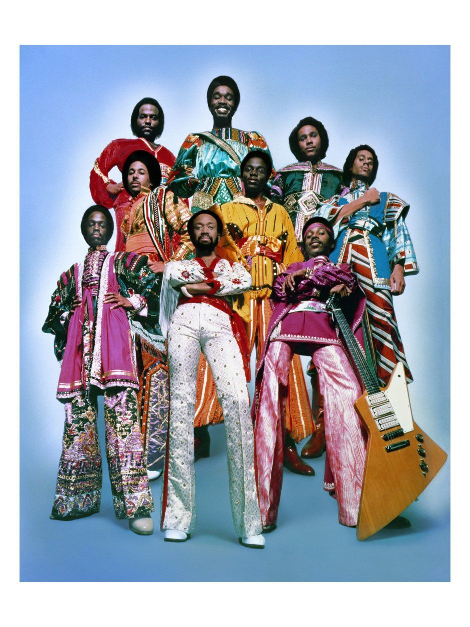 Group Portrait of Earth Wind & Fire 1978 Los Angeles, CA.