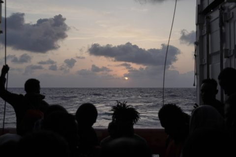 Charity boat with 182 migrants waits to dock in Europe