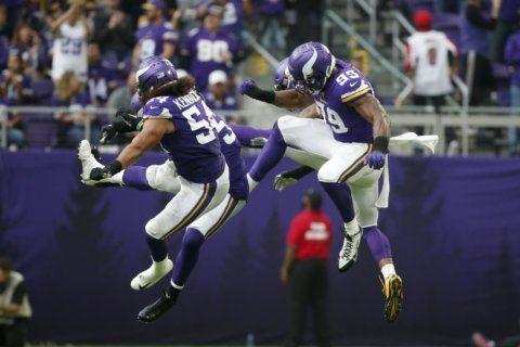 Vikings trample Falcons 28-12 behind fierce defense, Cook