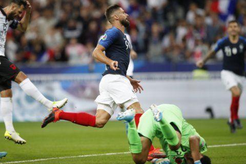 Giroud, Kane and Ronaldo on target in Euro 2020 qualifying