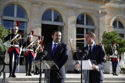 French president says committed to helping Lebanon's economy