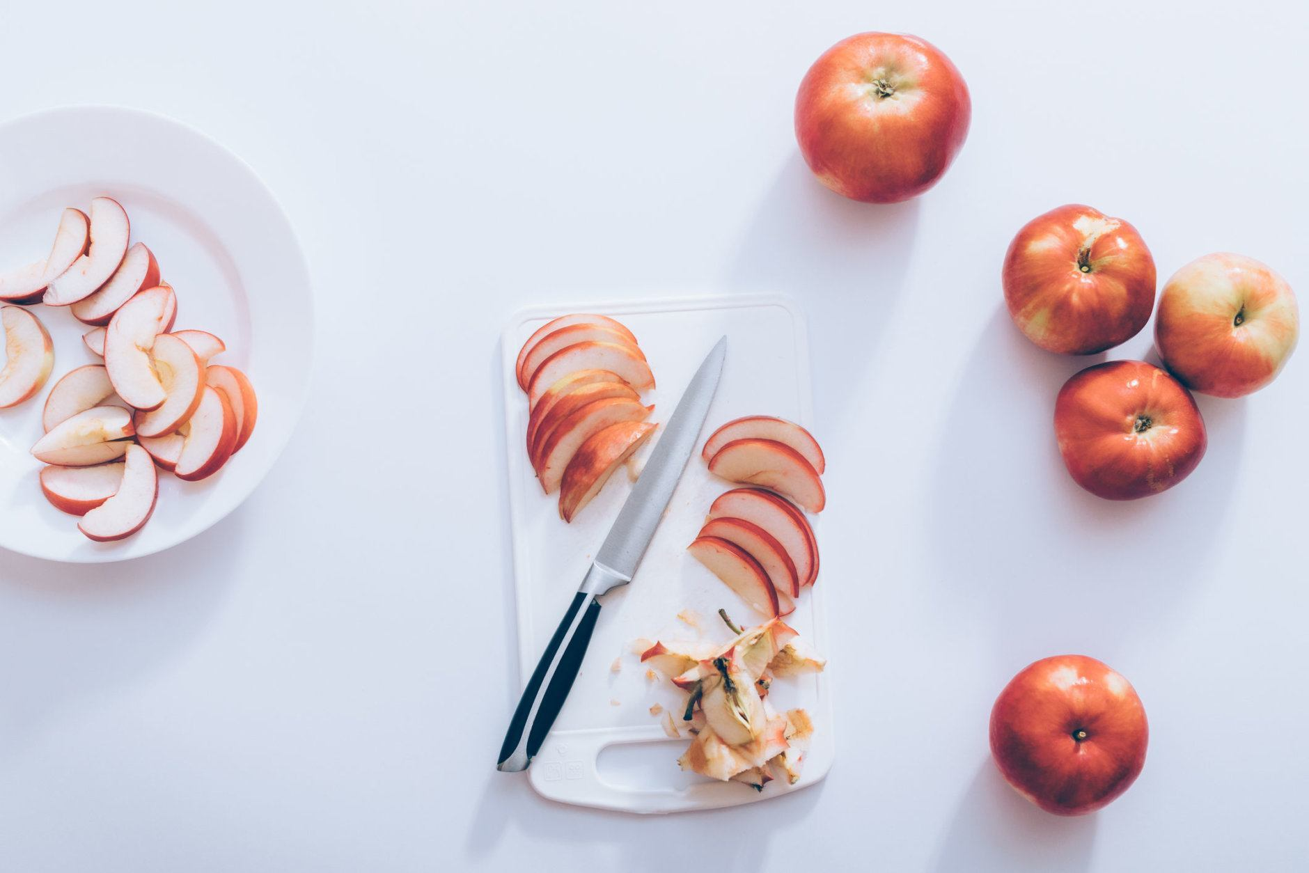 <p>(1) Cut apples into matchstick-size strips and add them to your favorite kale salad for a tart and crunchy addition.</p>