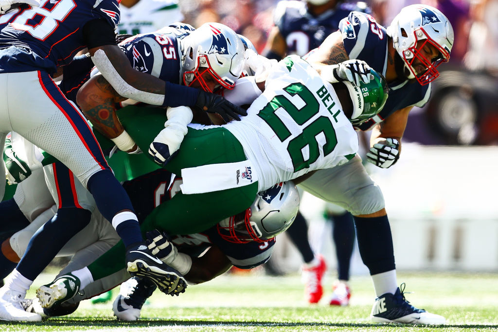 "<p><b><i>Jets 14</i></b><br /> <b><i>Patriots 30</i></b></p> <p>Including the Super Bowl, New England&#8217;s defense hasn&#8217;t allowed a touchdown in its last four games and even though they didn&#8217;t quite cover <a href=""https://www.espn.com/chalk/story/_/id/27636598/jets-fins-historic-underdogs-vs-pats-cowboys"" target=""_blank"" rel=""noopener"" data-saferedirecturl=""https://www.google.com/url?q=https://www.espn.com/chalk/story/_/id/27636598/jets-fins-historic-underdogs-vs-pats-cowboys&amp;source=gmail&amp;ust=1569294743341000&amp;usg=AFQjCNEqlhiYryxtqSMEJ4sr2kYpr1_fyQ"">their historic spread</a>, the Patriots look virtually unbeatable.</p>"