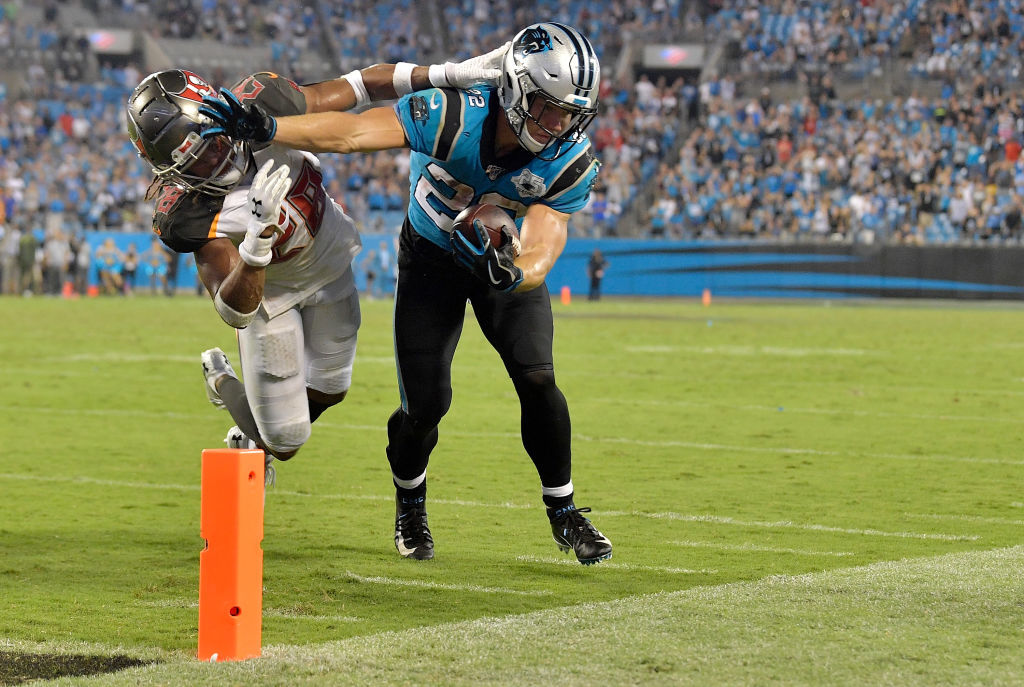 "<p><b><i>Bucs 20 </i></b><br /> <b><i>Panthers 14</i></b></p> <p>I don&#8217;t know if <a href=""https://profootballtalk.nbcsports.com/2019/09/10/cam-newton-thinks-norv-turner-has-christian-mccaffrey-in-fantasy/"">Norv Turner has Christian McCaffrey on his fantasy team</a> … but I do. Carolina is right to feed him, especially in the clutch over a clearly-banged up Cam Newton, whose Gone With the Wind look will soon match his status as a starting QB if his losing streak extends much further beyond the current eight games.</p>"