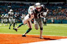 """<p><em><strong>Patriots 43</strong></em><br /> <em><strong>Dolphins 0</strong></em></p> <p>Despite winning only once in their last five trips to Miami, the heavily-favored Patriots <a href=""""https://wtop.com/nfl/2019/09/newcomer-brown-scores-as-patriots-beat-dolphins-43-0/"""" target=""""_blank"""" rel=""""noopener"""">quickly integrated Antonio Brown</a> into their offense and laid waste to a Dolphins team that should really come out and announce they&#8217;re tanking. I mean, if the third-worst scoring differential in the first two games of a season (-92) isn&#8217;t done on purpose, then Miami should be dumping that whole organization, not just their best players.</p>"""