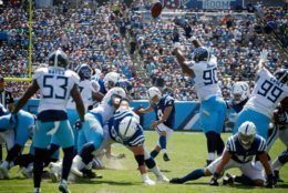 """<p><b><i>Colts 19</i></b><br /> <b><i>Titans 17</i></b></p> <p>Tennessee: Where <a href=""""https://deadspin.com/titans-home-debut-features-on-field-fireball-1838130393?utm_medium=socialflow&amp;utm_campaign=socialflow_deadspin_facebook&amp;utm_source=deadspin_facebook&amp;fbclid=IwAR0mNpiMJ35muTSsAvG9EVJopSWjA9y98A450P_5b6BtH_d4k82h3CihzxY"""">the turf gets lit up</a> and the Titans do, too.</p> <p>Seriously, though. Indianapolis has won 19 of the last 22 games between these two teams and stand just a rapidly-decaying Adam Vinatieri away from a remarkable 2-0 start to the post-Luck era. Here&#8217;s hoping the greatest kicker of all-time rights the ship and gets to complete what is surely the final season of his Hall-of-Fame career.</p>"""