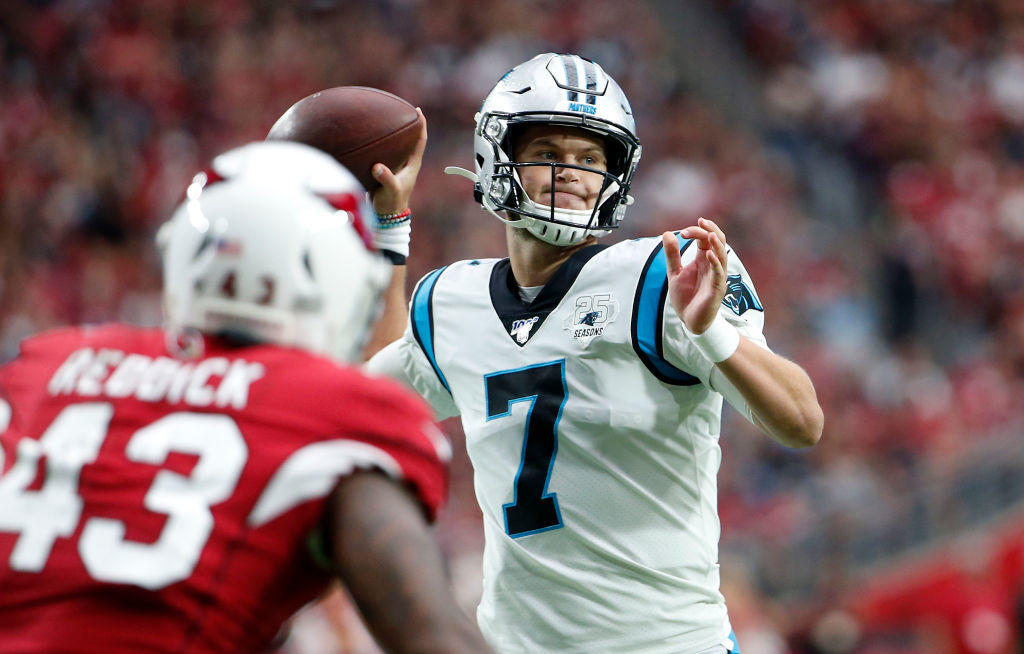 <p><b><i>Panthers 38</i></b><br /> <b><i>Cardinals 20</i></b></p> <p>Raise your hand if you knew before Cam Newton was ruled out of this game that his backup was some dude named Kyle Allen. (If you raised your hand, you&#8217;re a liar.) Four touchdowns and a road win later, everyone knows his name because he might have just given Carolina the confidence to keep Cam on the bench until he&#8217;s truly 100%.</p>