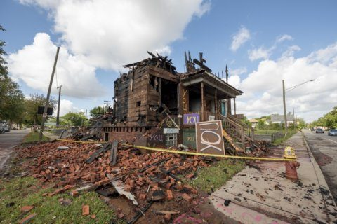 Fire guts building at Detroit's outdoor art project