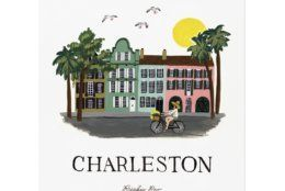 This photo provided by Rifle Paper Co. shows a gouache painting by Anna Bond of Rainbow Row in Charleston, S.C. The Winter Park Florida-based graphic designer, illustrator and co-founder of Rifle Paper Co., Bond is well-known for the charming floral illustrations that the company offers as stationery, wallpaper, home décor and fashion accessories. A series of gouache paintings she's done of destinations around the U.S. and beyond make charming wall art; Charleston, Chicago, New York and San Francisco are some of the cities in the collection. (Rifle Paper Co. via AP)