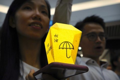 Hong Kong festival marked with pro-democracy messages