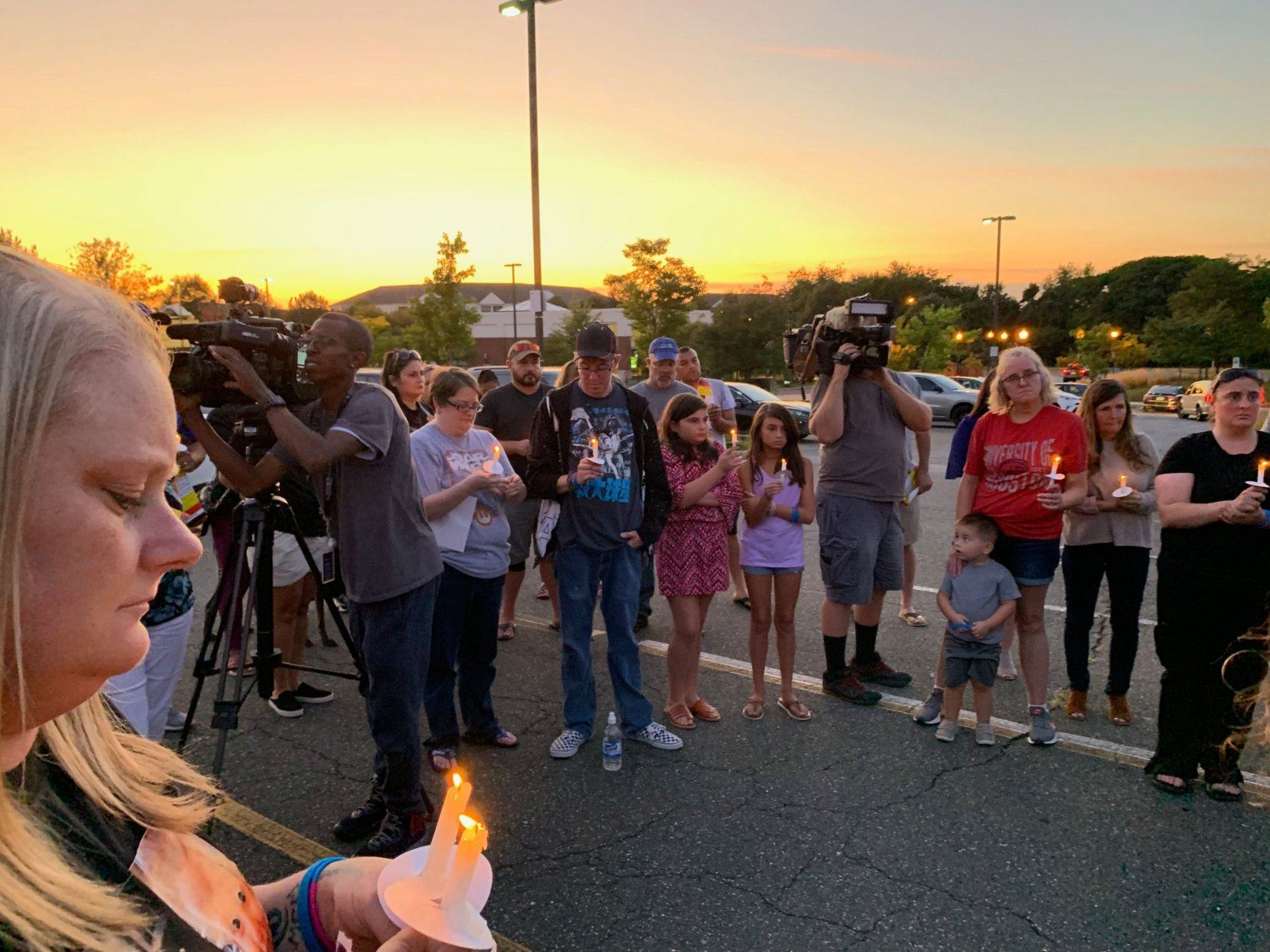 A candlelight vigil was held for Jacob and Sarah Hoggle on the spot that the search for the two missing children began five years ago.
