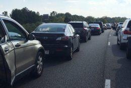 I-95 backup after crash