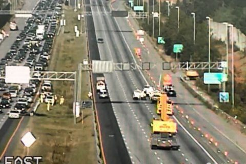 Parts of eastbound I-66 in Northern Virginia ensnared in traffic