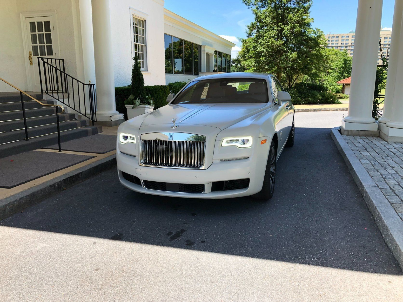 <p>The Ghost is the least expensive way to drive a Rolls-Royce sedan. It has a starting price of $315,000. But there are many options and packages to choose from, and my test car clocked in at an eye-popping $428,900.</p> <p>While you might think the Rolls-Royce is a better car to be driven around in as a passenger, that's not the case with the Ghost, which provides an exquisite driving experience.</p> <p>While a large car, the Ghost is smaller than other Rolls-Royce sedans, making driving easier overall. It takes a few minutes to get used to the light steering and larger size, and you sit up higher than a normal sedan.</p> <p>While large, the Ghost is no slouch thanks to a twin-turbo V12 engine with 563 horsepower.</p>