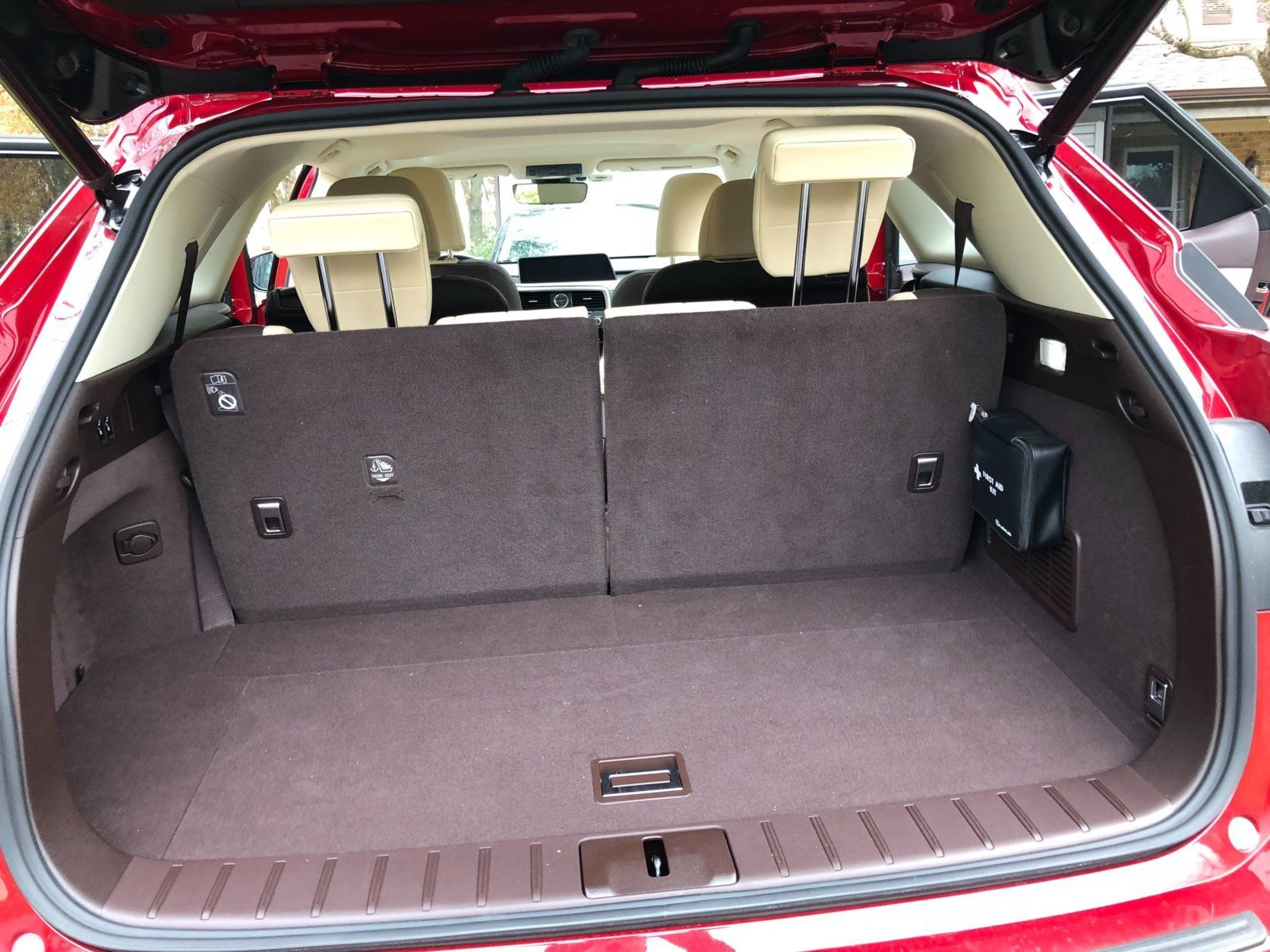 <p>They also make it a snap to load cargo but be careful in smaller spaces especially with the RX 350L's rear doors. Cargo space is limited with the third row in use but you gain more room with the seat folded.</p>
