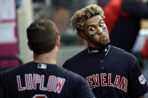 Indians hold off Angels 4-3 for sweep; Carrasco gets win