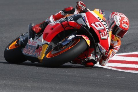 Marquez surges ahead on final lap to win San Marino GP