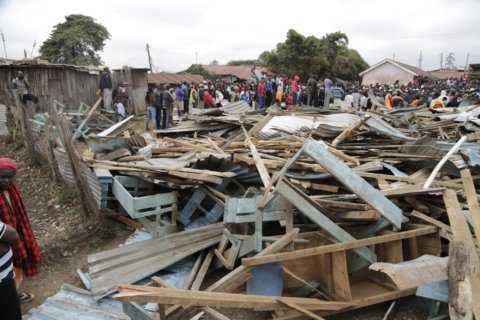 At least 7 killed as school collapses in Kenya's capital