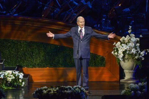 The Latest: Mormon leader speaks about LGBT policies