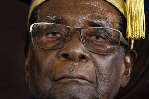 The Latest: UN chief lauds Mugabe role in fighting apartheid
