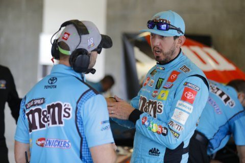 The Latest: Harvick wins crash-marred Brickyard 400