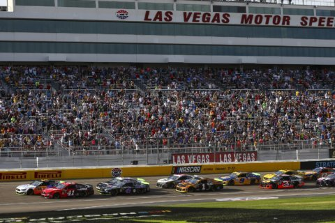 The Latest: Truex passes Logano to win 2nd stage