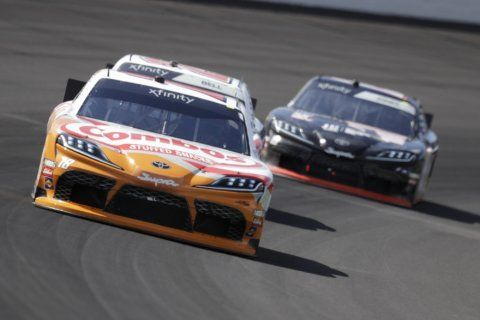 Kyle Busch holds off Allgaier to win Xfinity race at Indy