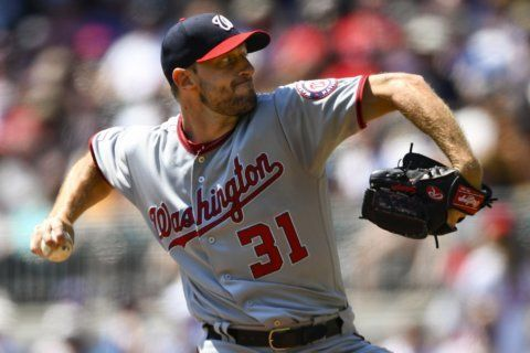 Scherzer, Nats win 9-4, stop Braves' 9-game winning streak
