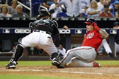 Nationals score 6 runs in 10th, beat Marlins 10-4