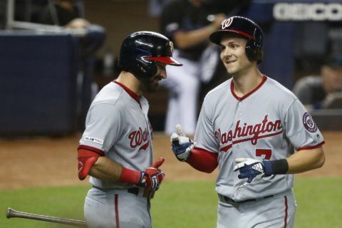 Turner homers twice to lead Nationals over Marlins