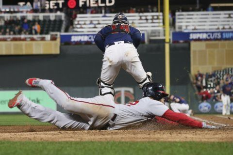 Nationals beat Twins 12-6 as AL Central race tightens