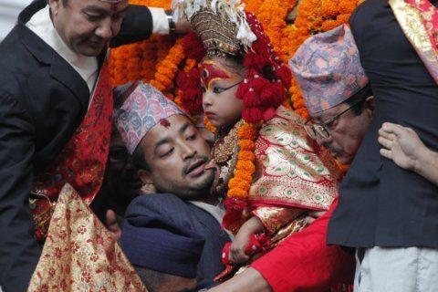 AP Photos: Nepal festival season starts with goddess, dance