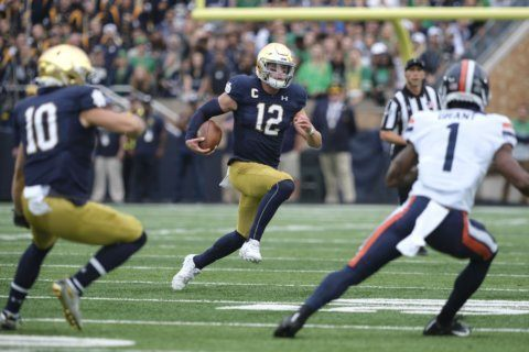 Correction: T25-Virginia-Notre Dame story