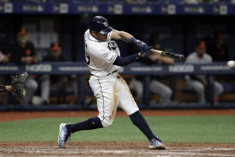 Pham, Rays top Orioles 5-4 in 10 for 5th straight win