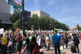 Climate protesters on Constitution Avenue, in D.C., Sept. 20, 2019.