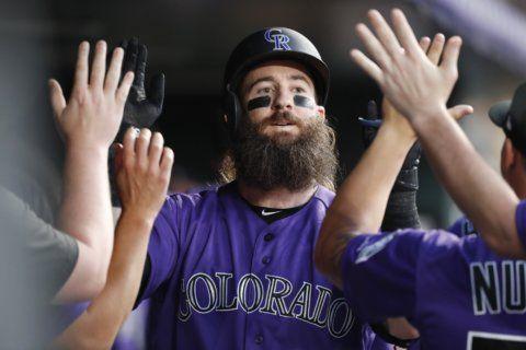 Blackmon homers in 6-run inning, Rockies beat Padres 11-10