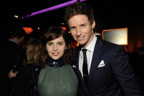 Eddie Redmayne happy to reunite with Felicity Jones