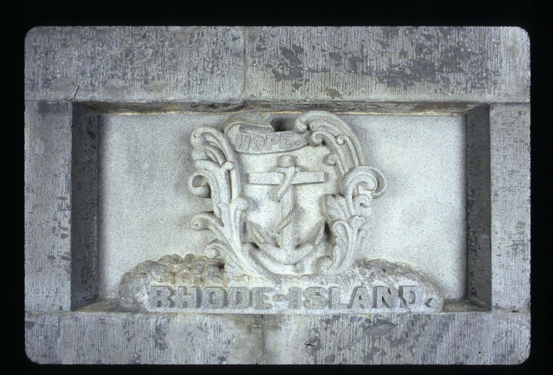 <p>Rhode Island&#8217;s stone is pretty elaborate.</p>