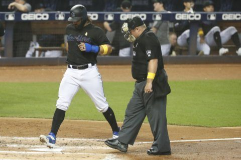 McBroom doubles twice to lead Royals over Marlins