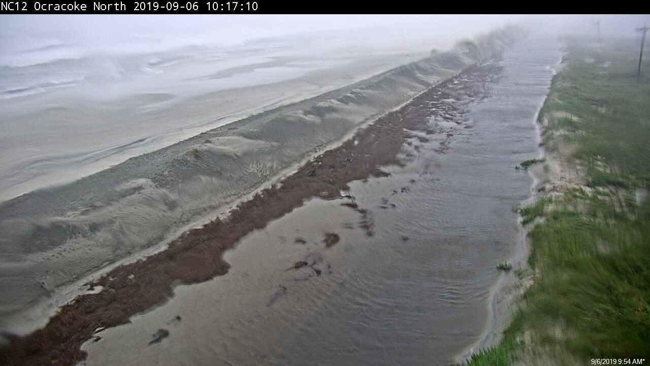 New images from the North Carolina Department of Transportation show road flooding in Hatteras Island and Ocracoke Island after Hurricane Dorian made landfall Friday morning.