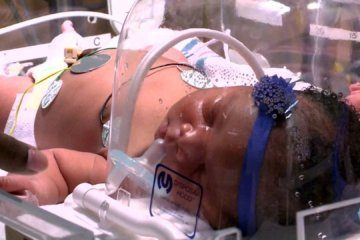 A baby born at 9:11 p.m. on 9/11 weighed 9 pounds, 11 ounces