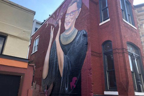 New mural of Ruth Bader Ginsburg pops up in DC