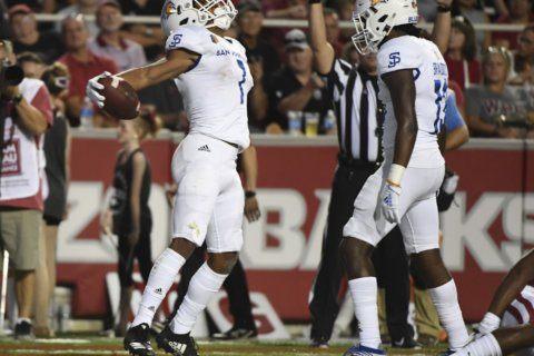 San Jose State upsets Arkansas with late score