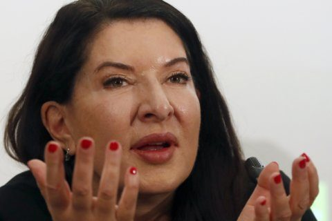 Artist Marina Abramovic opens exhibition in native Belgrade